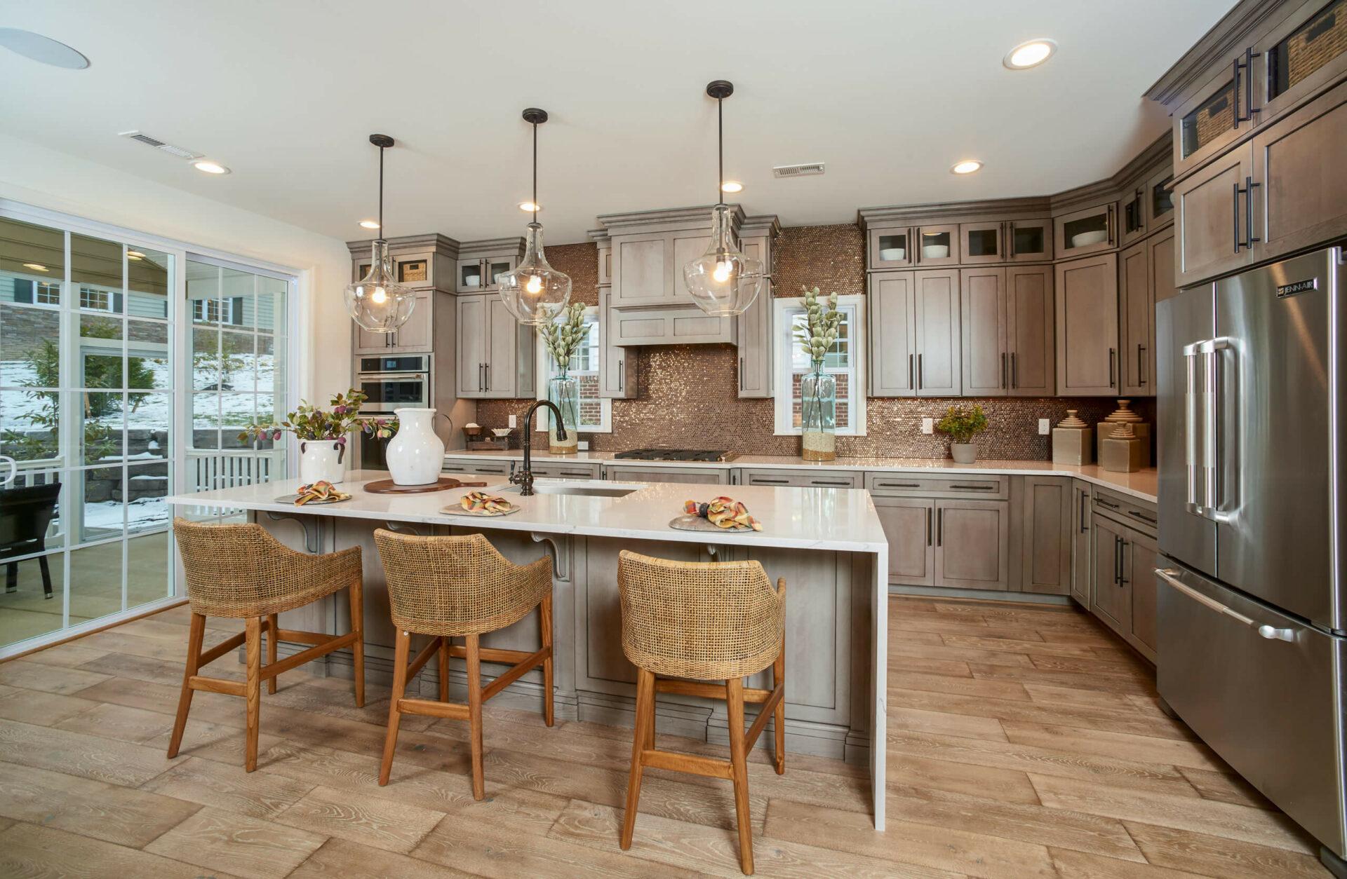 Franklin modern kitchen in designer model home
