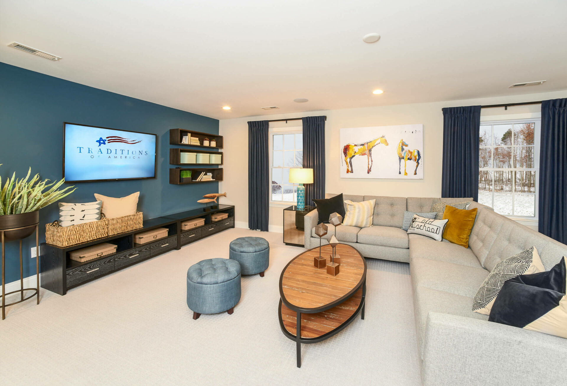 sectional couch in living area