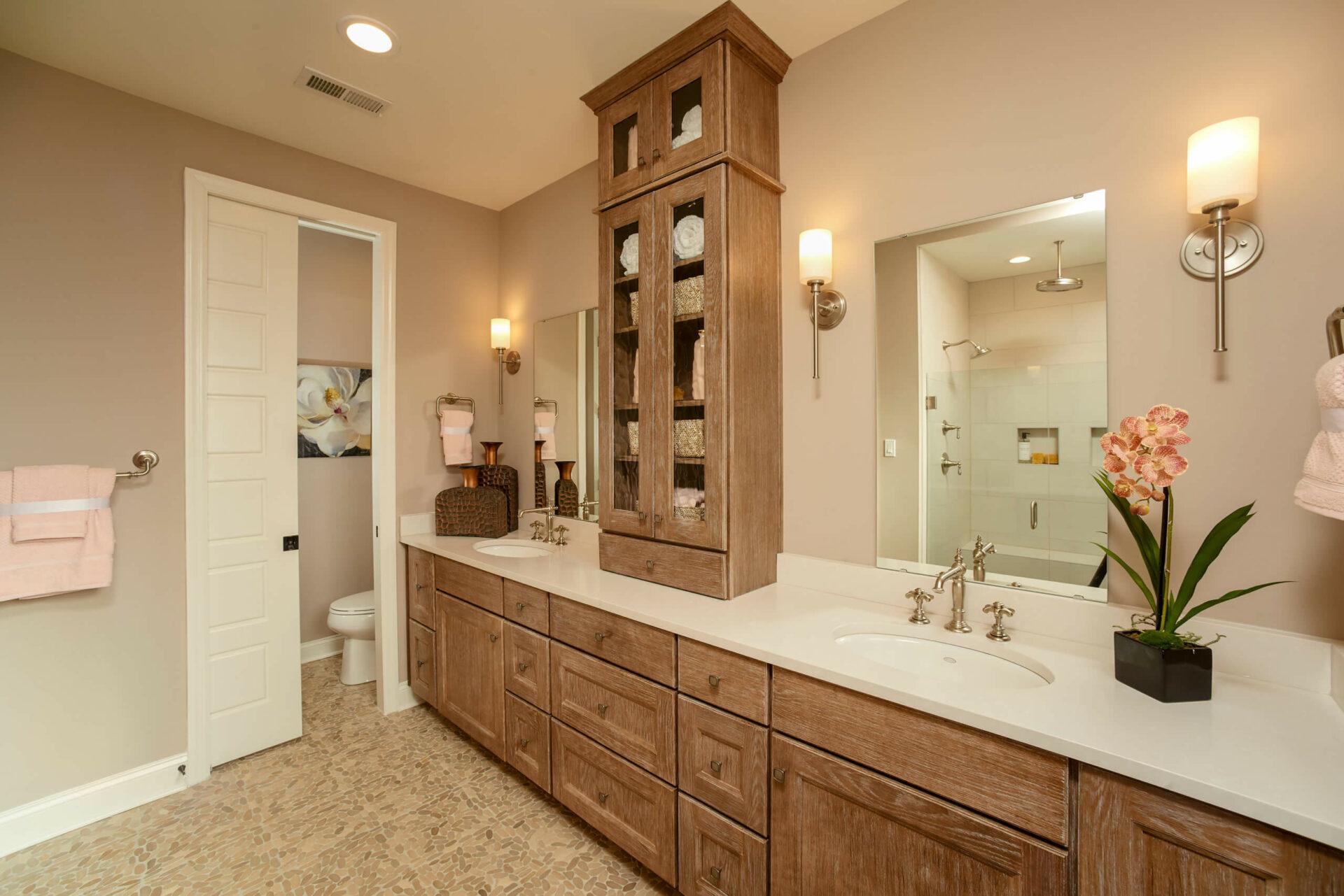 Franklin rustic master bathroom